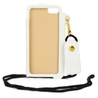 Universal PU Leather Pouch Case w/ Strap for Iphone 5S / 5c / 5 - White