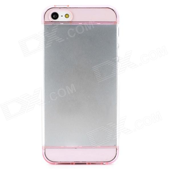 S-What Detachable Protective PC Back Case for Iphone 5 / 5s - Translucent Pink + Transparent защитное стекло onext 43151 для apple iphone 7 3d 1 шт
