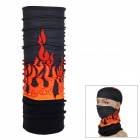 NUCKILY Multifunction Outdoor Sports Seamless Head Scarf - Black + Orange