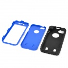 Tyre Pattern Protective Silicone + PC Case for Iphone 5 / 5s - Blue + Black