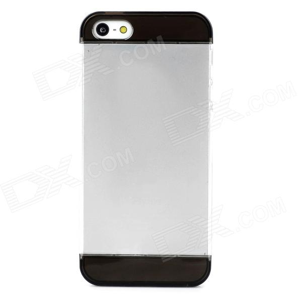 Фото S-What Detachable Protective PC Back Case for Iphone 5 / 5s - Translucent Black + Transparent a100 happy valentine s day pattern protective plastic back case for iphone 5 5s transparent