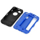 3-in-1 Cool Protective Plastic + Silicone Case for Iphone 5C - Black + Blue