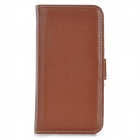 Protective PU Leather Case w/ Card Holder Slots for Iphone 5S - Brown