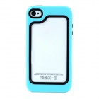 Detachable Protective Plastic + TPU Bumper Frame for Iphone 4 / 4S - Light Blue + Black