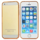 S-What Stylish 0.7mm Super Thin Aluminum Alloy Bumper Frame Case for Iphone 5 / 5s - Golden