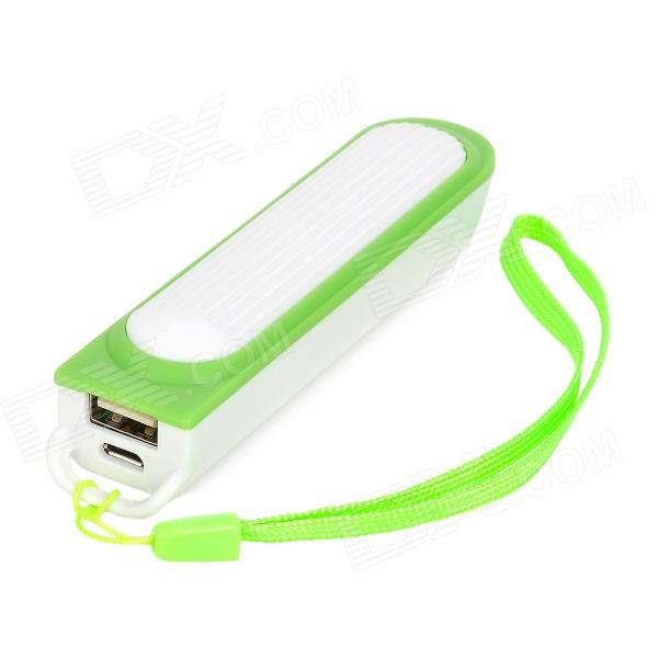 Universal 3.7V 18650 Battery to USB 5V Female Output Adapter Power Bank - Green + White (1 x 18650)