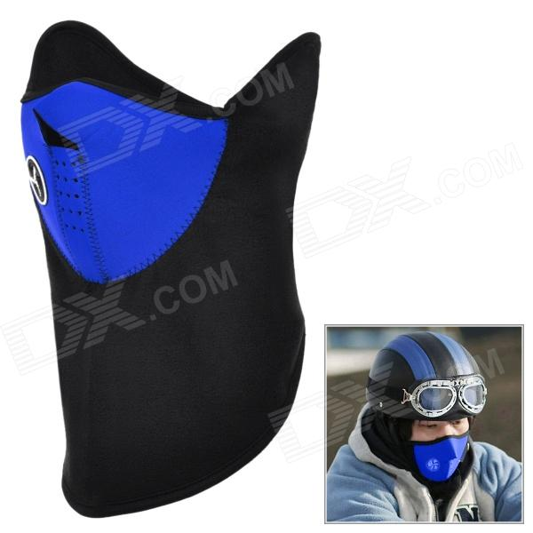 NUCKILY Outdoor Cycling Windproof Warm Fleece Face Mask - Blue + Black