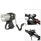 ZHISHUNJIA SX-185A 60lm 1-LED White Light 3-Mode Bike Front Flashlight w/ Holder - Silvery Grey