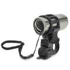 ZHISHUNJIA SX-185 a 60lm 1 LED blanc lumineux 3-Mode Bike Flashlight avant w / porte - gris argenté