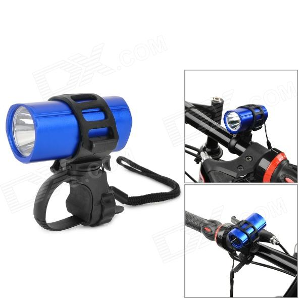 ZHISHUNJIA SX-185A 60lm 1-LED White Light 3-Mode Bike Front Flashlight w/ Holder - Blue