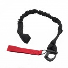 Breakaway Safety Lanyard Strap Rope - Black + Red (70cm)