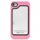 Protective Plastic Bumper Frame Case for Iphone 4/4S - Pink + Black