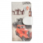 Classic Car Pattern PU Leather + PC Case for Iphone 5 / 5s - Multicolored