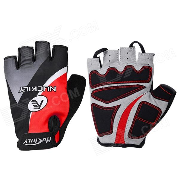 NUCKILY NS3552 Outdoor Dacron + Spandex Gloves for Cycling / Hiking - Black + Red (Size L / Pair) ноутбук dell inspiron 3552 3552 5193