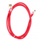 HDMI 1.4 Male A to Micro HDMI Male D HD Signal Transmission Cable - Red + White (1.5m)