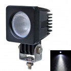 10W  850LM  60 Degrees Flood Beam Car LED Light w/ CREE XT-E U2- Black (DC 10-30V)