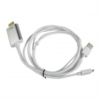 Mobile Phone to HDTV Medialink Micro USB 3.0 to HDMI MHL Cable for Samsung Galaxy Note 3 - White