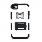 2-in-1 Cool Protective Case w/ Bottle Opener for Iphone 4 / 4S - White + Black