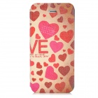Fashion Heart Pattern PU Leather Case for Iphone 5 - Multicolored