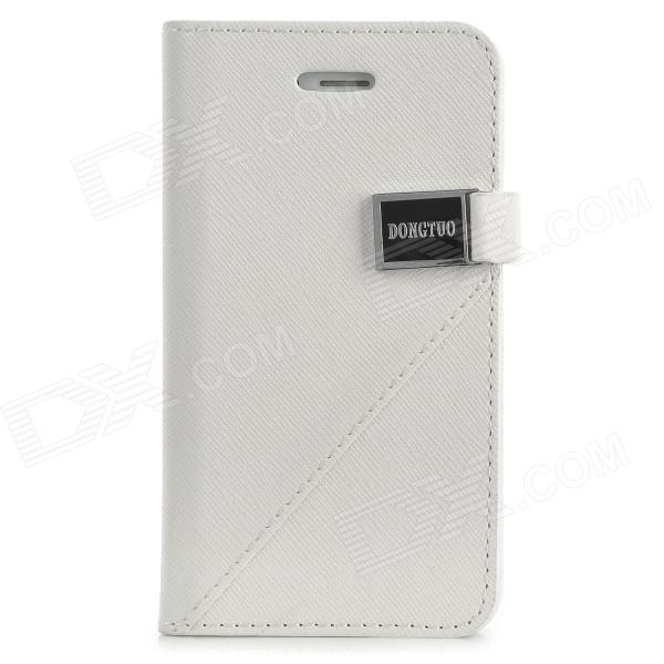 все цены на A13 Simple Style Flip Open PU Leather Case w/ Card Slot for Iphone 4 - White онлайн