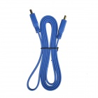 1080p HDMI v1.4 Male to Male Flat Connection Cable - Blue (152cm)