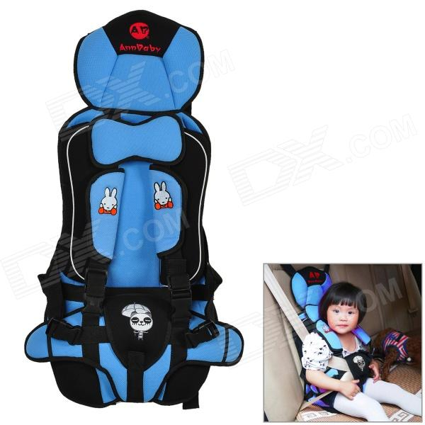 Multi-function Car Safety Harness Seat Cover Cushion for Children - Blue + Black new professional safety rock tree climbing rappelling harness seat sitting bust belt safety harness