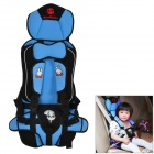 Multi-function Car Safety Harness Seat Cover Cushion for Children - Blue + Black
