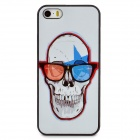 Protective Skull Pattern Plastic Back Case for Iphone 5 / 5s - White + Red + Black + Blue