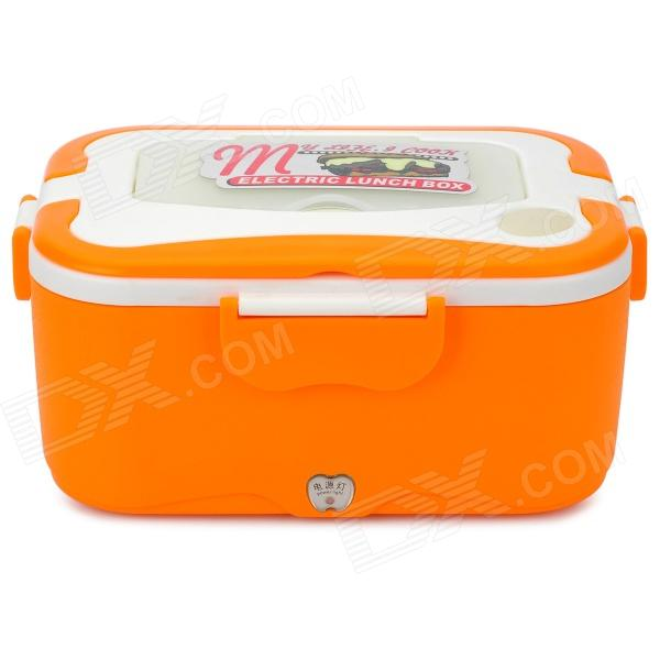 Фото OUSHIBA Car Stainless Steel Electric Lunch Box - Orange + White (12V) new safurance 200w 12v loud speaker car horn siren warning alarm stainless steel home security safety