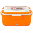 OUSHIBA Car Stainless Steel Electric Lunch Box - Orange + White (12V)