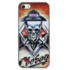 Protective Skull Pattern Embossed Matte Back Case for Iphone 5S - Multicolored