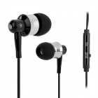 OVLENG iP-670 Stereo In-Ear Earphone w/ Microphone for Cell Phone - Black + Silver