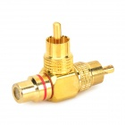 RCA Female to 2 Male AV Adapter - Golden