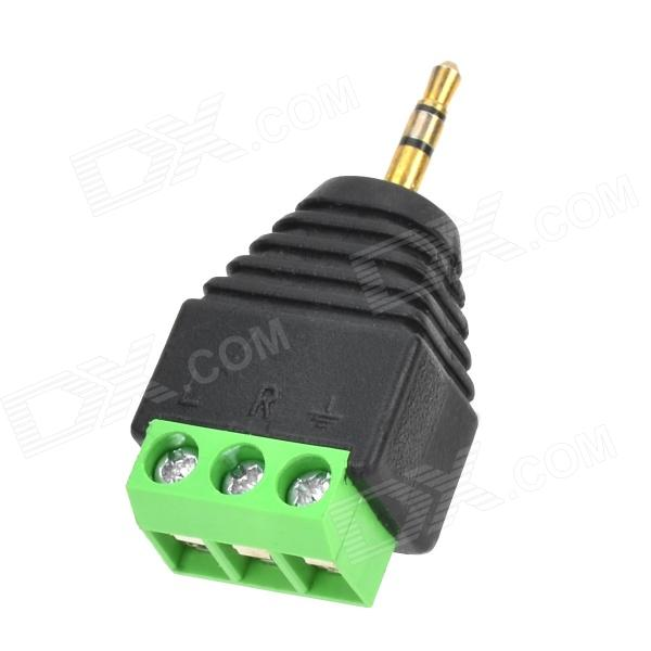 Y-2-2.5 Plastic 2.5 Male Plug to 3-Terminal Audio Adapter - Black + Green