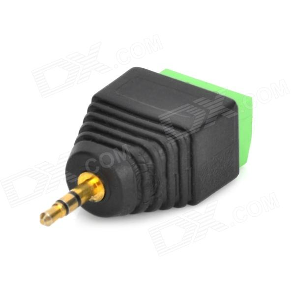 Y plastic male plug to terminal audio adapter