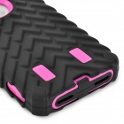Detachable Tyre Tread Style Protective Silicone + PC Case for Iphone 5 / 5s - Purple + Black