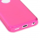 Protective Aluminum + Silicone Back Case for Iphone 5C - Deep Pink