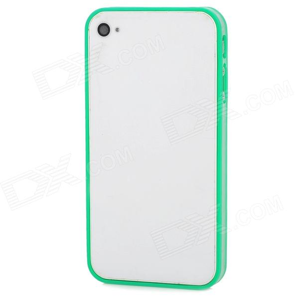 Stylish Joint-color ABS Bumper Frame Case for Iphone 4 / 4S - Green + Transparent