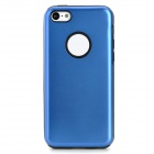 Protective Aluminum + Silicone Back Case for Iphone 5C - Dark Blue + Black
