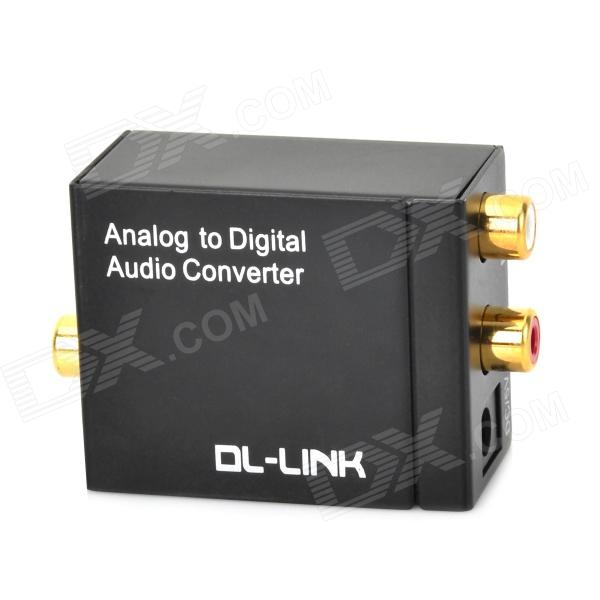 DL-LINK TS-AD01 Analog to Digital Audio Converter - Black rs232 to rs485 converter with optical isolation passive interface protection