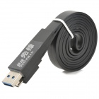 USB 3.0 Data/Charging Flat Cable for Samsung Galaxy Note3 N9000 / N9005 / N9006 / N9002 - Black
