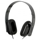 OVLENG X2 Stylish Folding Headphones w/ Microphone for Cell Phone / PC - Black