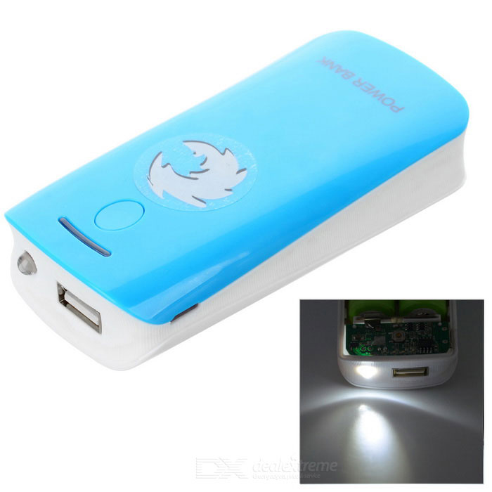 2 x 18650 Battery Holder External Power Charger w/ 1-LED Flashlight / Indicator Light - Blue just cavalli jc 647s 92