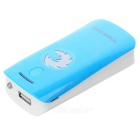 2 x 18650 Battery Holder External Power Charger w/ 1-LED Flashlight / Indicator Light - Blue