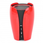 BR-02 Wireless Bluetooth V3.0+EDR Speaker w/ AUX Input / Mic - Orange Red + Black