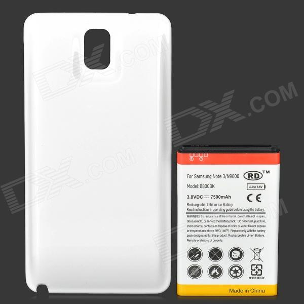 online store c2c38 99f27 Replacement 7500mAh Extended Battery w/ Back Cover for Samsung Galaxy Note  3 N9000 - White