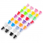 Universal Data/Earphone Jack Anti-Dust Plug Kit for Iphone / Ipad / Ipod - Multicolored (36 PCS)