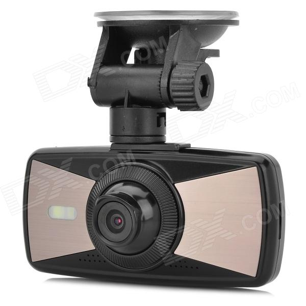 T1100 2.7 TFT HD 1080p 3.0MP 140 Degrees Wide Angle 4X Zooming WDR Car DVR w/ 2-IR LED 3 years warranty 100