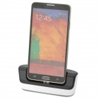 2-in-1 Charging Docking Station w/ Battery Dock for Samsung Galaxy Note 3 N9000 - Black + White