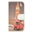 London Pattern Protective PU Leather + PC Case for Iphone 5 / 5s - Multicolored
